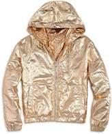 Blank NYC Blanknyc Girls' Reversible Metallic Rain Jacket
