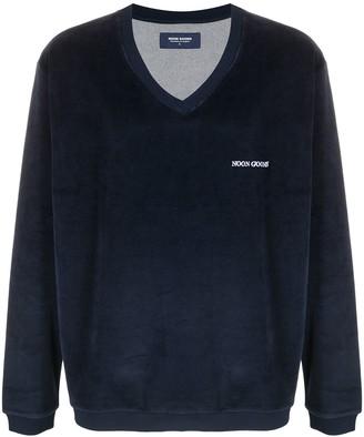 Noon Goons logo-print V-neck jumper