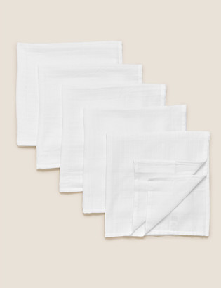 Marks and Spencer 5 Pack Organic Pure Cotton Muslin Squares