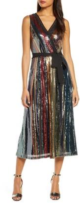 Julia Jordan Multicolored Sequin Midi Dress