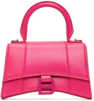 Balenciaga Pink XS Hourglass Top Handle Bag