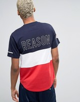 Reason Panel T-Shirt With Logo Back Print