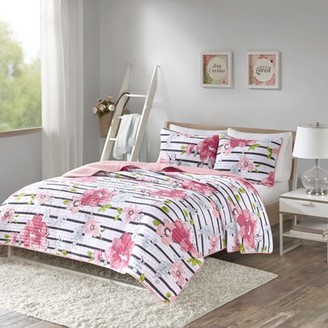 Comfort Spaces Zoe Floral Printed Ultra Soft Mini Quilt Set