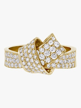 Carelle Knot Pave Diamond Ring