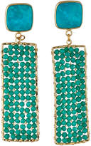 Panacea Stone and Crystal Drop Earrings, Turquoise