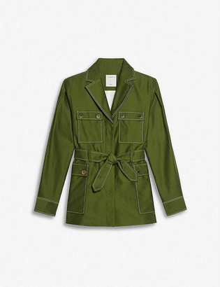Sandro Zaya belted cotton jacket