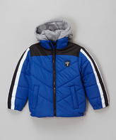 Hawke & Co Royal Blue Fleece Hooded Puffer Coat - Boys