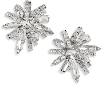CRISTABELLE Statement Cluster Crystal Earrings