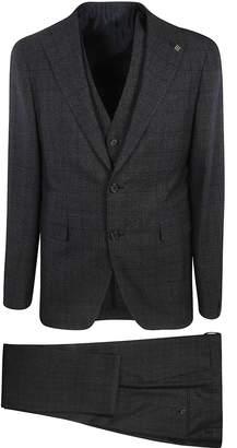 Tagliatore Single Breasted Semi-check Two-piece Suit