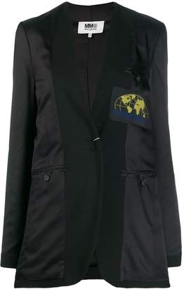 MM6 MAISON MARGIELA reversed logo patch blazer