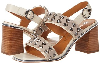 Tory Burch Delaney 75mm Embellished Sandal (New Cream) Women's Shoes