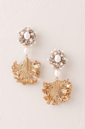 Ranjana Khan Golden Frond Earrings