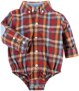 Andy & Evan Check Flannel Shirtzie (Baby) - Brown-12-18 Months