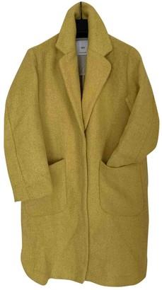 MANGO \N Yellow Wool Coat for Women