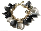 Chanel Interlocking Cc Crystals Glass Bead And Natural Stone Charms Bracelet