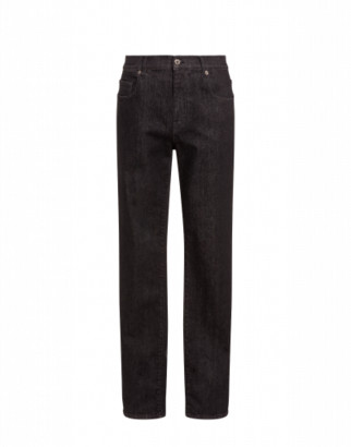 Moschino Double Question Mark Denim Trousers Man Black Size 46 It - (30 Us)