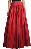 Michael Kors Taffeta Silk Ball Skirt, Crimson