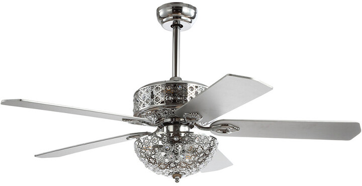 Thumbnail for your product : Jonathan Y Designs Zara 52In Filigree 6-Light Metal/Wood Led Ceiling Fan