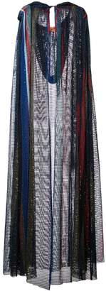 Missoni mesh knit hooded cape