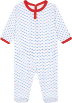 Petit Bateau Fish-print cotton baby-grow 3-24 months