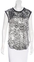 Helmut Lang Abstract Print Sleeveless Top