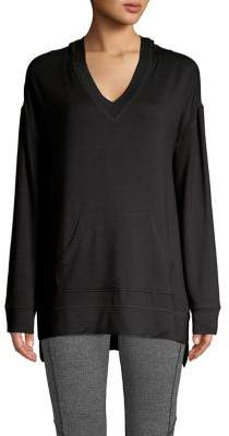 Andrew Marc High-Low Hooded Tunic