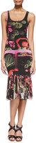 Jean Paul Gaultier Printed Fringe-Bottom Tank Dress