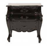 French Provincial Rococo Bedside Table Finish: Weathered Oak