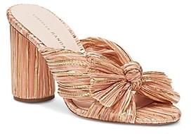 Loeffler Randall Women's Penny Pleated MHigh-Heel Slide Sandals
