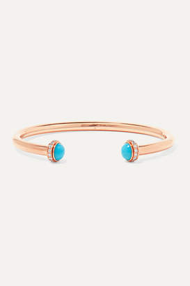 Piaget Possession 18-karat Rose Gold, Turquoise And Diamond Cuff - S