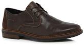 Rieker Tan Leather Derby Shoes