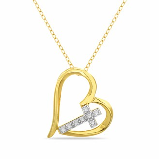 Rose Gold-plated Silver 22mm Best Friend In Heart Pendant