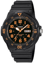 Casio TABLE Mens Black Resin Strap Diver Sport Watch MRW200H-4BV
