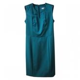 Saint Laurent Turquoise Silk Dress
