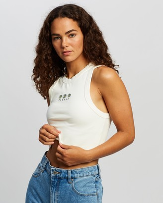 Abrand - Women's White Singlets - A Heather Singlet - Size XS at The Iconic