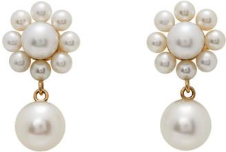 Sophie Bille Brahe Gold Pearl Margherita Drop Earrings