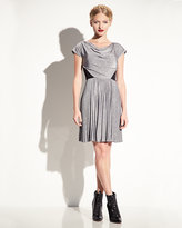 Betsey Johnson Pleated Dress With Lace Insets