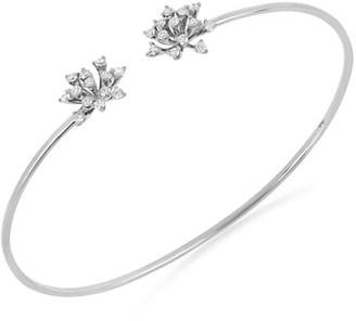 Hueb Luminus 18K White Gold & Diamond Open Bangle Bracelet
