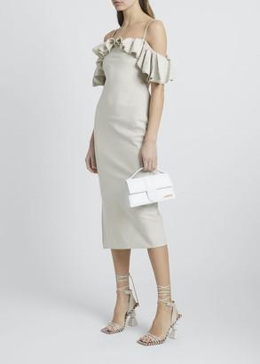 Jacquemus Pampelonne Off-Shoulder Ruffle Midi Dress