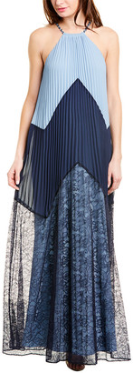 BCBGMAXAZRIA Colorblocked Maxi Dress