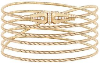 Boucheron 18kt yellow gold Jack de diamond wrap bracelet