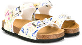 MonnaLisa butterfly print sandals - kids - Leather/rubber - 20