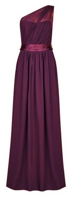 Dorothy Perkins Womens Showcase Tall Oxblood 'Sadie' Bridesmaids Maxi Dress
