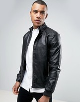 Celio Faux Leather Jacket