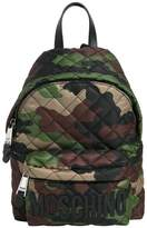 Moschino Medium Quilted Camo Nylon Backpack