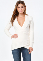 Bebe Textured Wrap Sweater