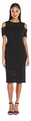 Ronni Nicole Women's Cold Shoulder Lace Midi