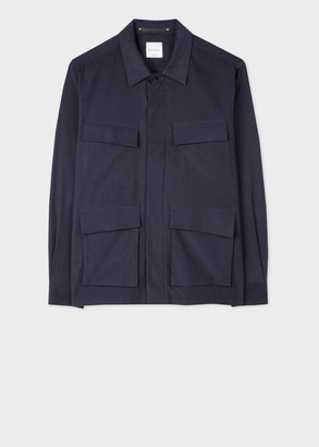 Men's Navy Corduroy Shirt Jacket