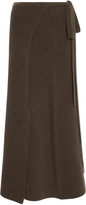 Joseph Ribbed-Knit Wrap Skirt
