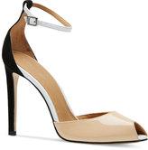 Calvin Klein Women's Sirena Peep-Toe Pumps
